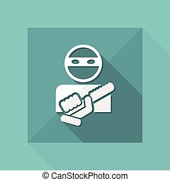 Armed bandit icon