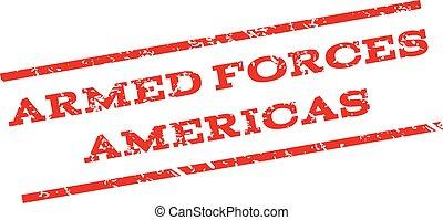 Armed Forces Americas Watermark Stamp