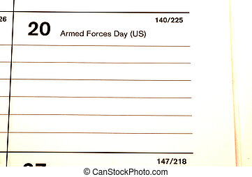 armed forces day 2006 calendar blotter copy space