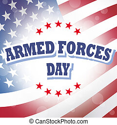 armed forces day banner with american flag background