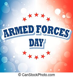 armed forces day banner on celebration background
