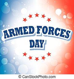 armed forces day banner on celebration background