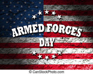 armed forces day card american flag