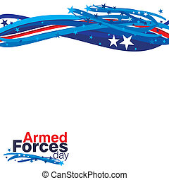 Armed Forces Day - An abstract illustration of Armed Forces...