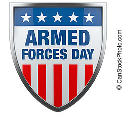 Armed Forces Day USA American flag defence shield image...