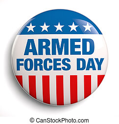 Armed Forces Day USA design symbol.