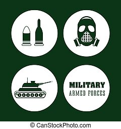 Armed forces design - Armed forces concept with military...
