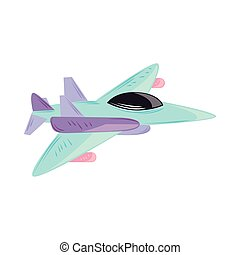 armed forces plane cartoon isolated