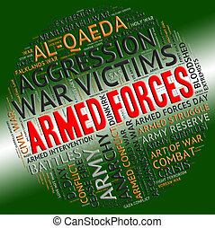 Armed Forces Shows Military Service And Arms
