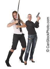 Armed girls