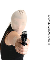 Armed robbery - An armed gunman demands some cash in a...