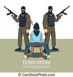 Armed Terrorist Group With Hostage Kidnapping Terrorism ...