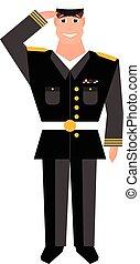armee, allgemein, saluting., gebärde, design, hand, veteranentag, element., glücklich