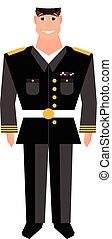 armee, design, element., veteranentag, general., glücklich