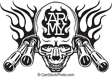 armee, militaer, design, -, vektor, illustration.