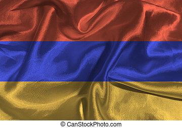 Armenia flag 3D illustration symbol.