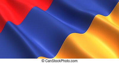 Armenia flag 3D