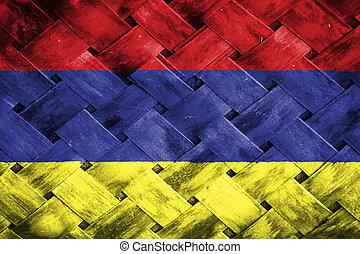 Armenia flag , Armenia flag on Weave Bamboo
