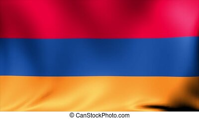 Armenia Flag. Background Seamless Looping Animation. 4K High Definition Video.