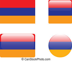 Armenia flag & buttons