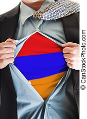 Armenia flag on shirt