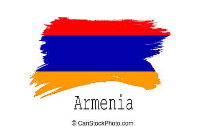 Armenia flag on white background
