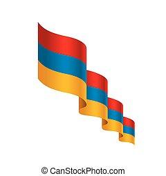 Armenia flag, vector illustration on a white background