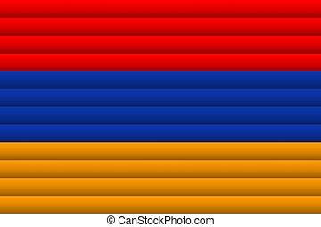 Armenia Flag. Vector Illustration.