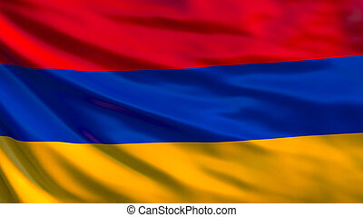 Armenia flag. Waving flag of Armenia 3d illustration