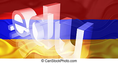Armenia flag wavy education - Flag of Armenia, national...