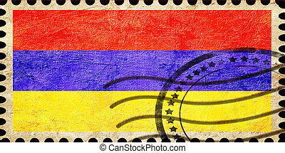 Armenia flag with some soft highlights and folds