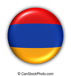 World Flag Button Series - Asia - Armenia (With Clipping Path)