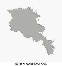 Armenia map in gray on a white background