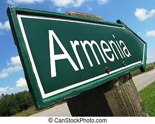 Armenia road sign