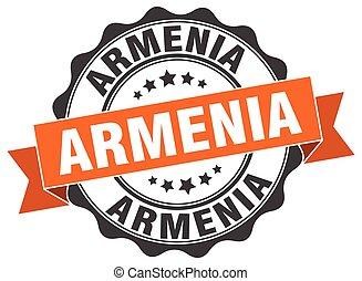 Armenia round ribbon seal