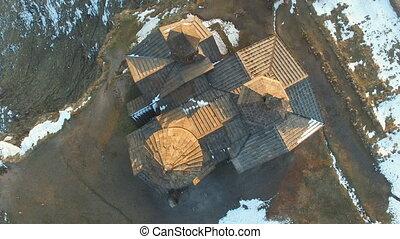 Armenia, Saghmosavank monastery, 13th century - Aerial view...