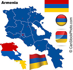 Armenia vector set.