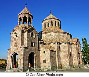 Armenian church in city Yerevan,Transcaucasia,Armenia.