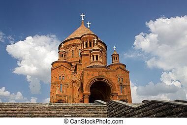 Saint Hovhannes church in Abovyan city, Armenia.