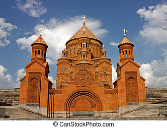 Armenian church. - Saint Hovhannes church in Abovyan...
