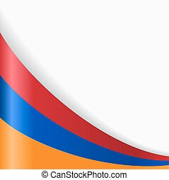 Armenian flag background. Vector illustration. - Armenian...