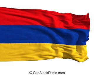 Armenian flag, fluttering in the wind