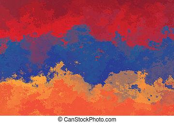 Armenian flag - grunge design pattern