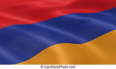 Armenian flag in the wind. Part of a series.