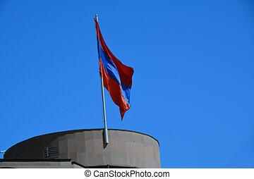 Armenian flag on the roof