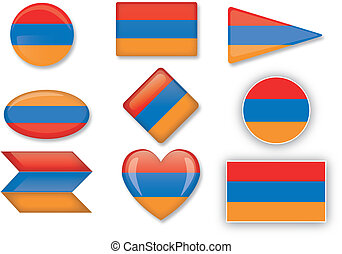 Armenian flag set