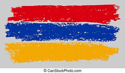 Armenian Flag Sketch Illustration with Chalk Effect