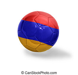 Armenian Football - Football ball with the national flag of...