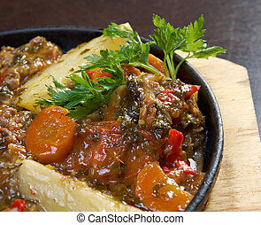 kchuch - lamb stew with potatoes. Armenian cuisine