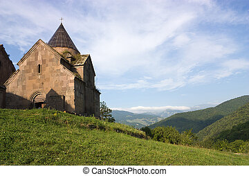 Goshavank Monastery was founded in 1188. It is located about 20 miles east of Dilijan, Armenia.